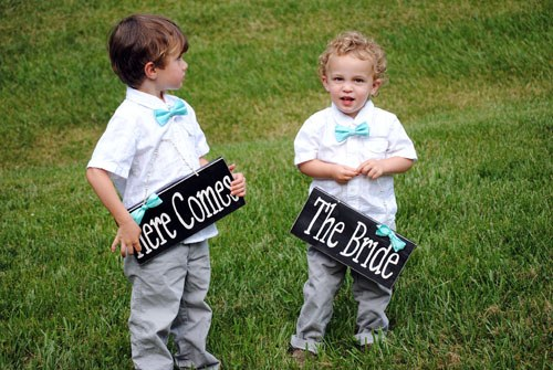 Kids after a wedding chapel in Georgia