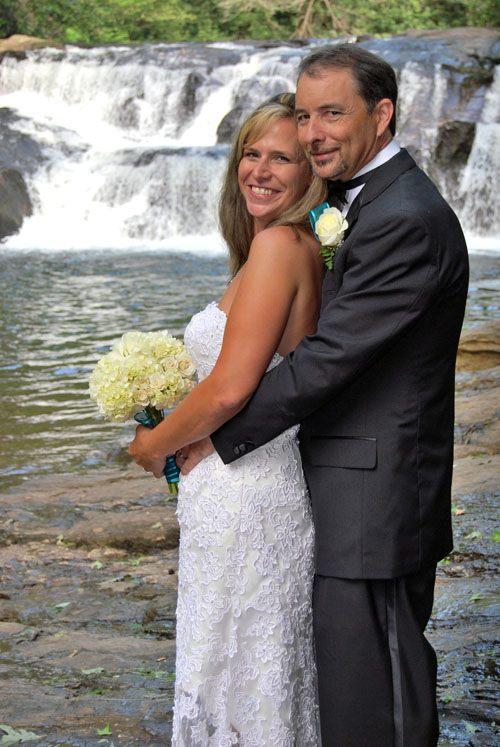 Waterfall Wedding Alternatives to Wedding Chapels in Helen Ga