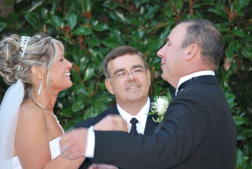 Rev. Rick Durham officiates at wedding in North Georgia